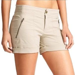 NWOT Athleta Trekkie Shorts, Sz 0, Light Tan